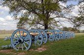 picture of cannon  - Revolutionary War cannons on display at Valley Forge National Historical Park PennsylvaniaUSA - JPG