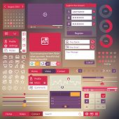 user interface flat design elements