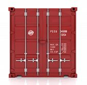 freight container isolated on white
