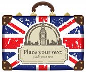 Travel suitcase with Big Ben