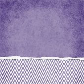 Square Purple And White Zigzag Chevron Torn Grunge Textured Background