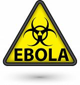 Ebola Virus Alert Sign,vector Illustration