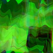 art abstract colorful chaotic waves seamless pattern background with green and black colors