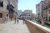 Venice. Street Along A Channel