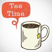 Doodle tea mug