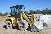 Bulldozer Construction Vehicle at work