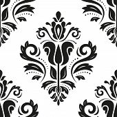 Damask Seamless Pattern. Abstract Background