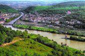 Rüdesheim am Rein. the Rhine