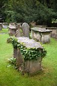 WILTSHIRE, CHIPPENHAM, UK - AUGUST 9, 2014: Castle Combe, grave yard
