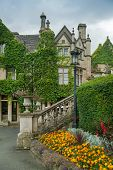 WILTSHIRE, CHIPPENHAM, UK - AUGUST 9, 2014: old mansion in Castle Combe