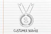 Best Customer Service, Gold Medal Symbol