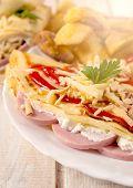 Flapjacks Sandwich