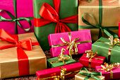 Multitude of Wrapped Gifts