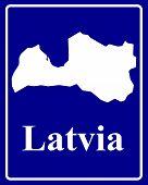 Silhouette Map Of Latvia