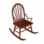 Rocking chair - 3D render