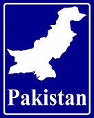 Silhouette Map Of Pakistan