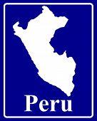 Silhouette Map Of Peru