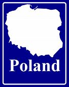 Silhouette Map Of Poland