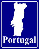 Silhouette Map Of Portugal