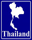 Silhouette Map Of Thailand