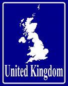 Silhouette Map Of United Kingdom