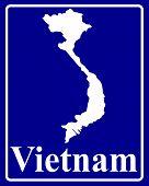 Silhouette Map Of Vietnam