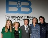 LOS ANGELES - JAN 14:  Lauralee Bell, Lee Phillip Bell, Bradley P. Bell, Colleen Bell, Chasen Bell at the  B&B 7000th Show at a CBS Television City on January 14, 2015 in Los Angeles, CA