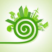 Ecology Concept - eco cityscape with spiral design
