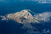 Full Aerial View of Mount Adams, Washington, May 2014.