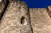 Tower at the Historic Old West Spanish Mission San Jose, 1720, San Antonio, TX