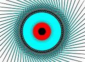 Illustration Of Blue Red Eye