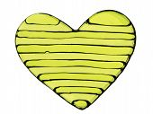 Yellow Striped Heart
