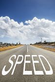 Road With Text Speed