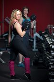Girls Do Weight-lifting Exercises