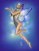 Floating Purple Fairy, 3D Cg