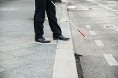 Blind Person Crossing Street