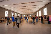 Berlin, Germany - November 12, 2014: Buyers Are Shopping At Kurfuerstendamm Apple Store In Berlin, G