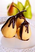 Poached Pears in Chocolate