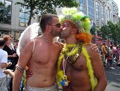Gay Kiss At Paris Gay Pride 2010