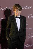 PALM SPRINGS, CA - JAN 3: Alex Lawther arrives at the 2015 Palm Springs Film Festival Awards Gala at the Palm Springs Convention Center on January 3, 2015 in Palm Springs, CA.