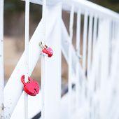 Marriage Love Locks On Bridge