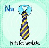 A letter N for necktie