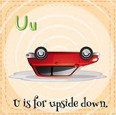 A letter U for upside down