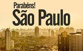 Happy birthday Sao Paulo (Parabens, Sao Paulo in Portuguese)