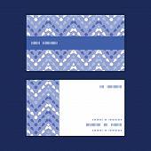Vector purple drops chevron horizontal stripe frame pattern business cards set