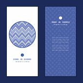 Vector purple drops chevron vertical round frame pattern invitation greeting cards set