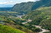 picture of guinea  - valley river Baliem at island New Guinea - JPG