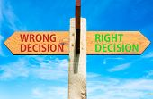 Right Decision versus Wrong Decision
