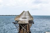 Old Railroad Bridge On The Bahia Honda Keys