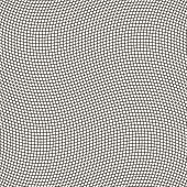 Geometric waving grid, vector seamless pattern